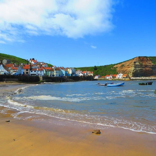 staithes and beach