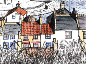 Cottages in Staithes Yorkshire.