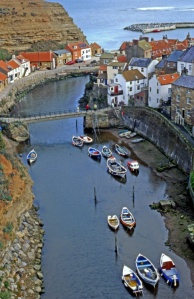 Cottages in Staithes Yorkshire Coast